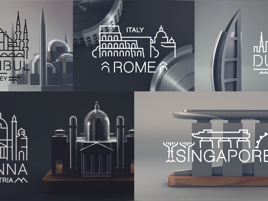 Jsouv: A Beautifully Minimalist Souvenir Set Depicting Architectural Landmarks