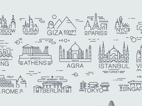 Jsouv: A Beautifully Minimalist Souvenir Set Depicting Architectural Landmarks