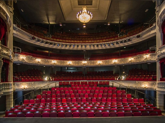 The theatre's main auditorium was also part of the recent renovation works. Now there's not a 'bad seat' in the house, says Angus Morrogh-Ryan, the architectural practice's director. Photography: S...