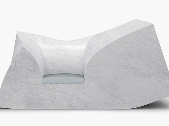 Following on from the foam version of the sofa, the British designer embarked on creating a one-off marble version which would mirror the original