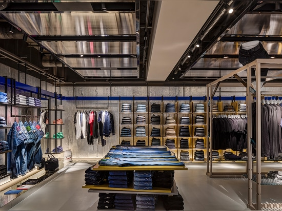 In the Denim room, wardrobe essentials become wardrobe solutions when grouped by product type – i.e. white t-shirts, leather jackets, denim shirts   Read more at http://www.wallpaper.com/fashion/ha...