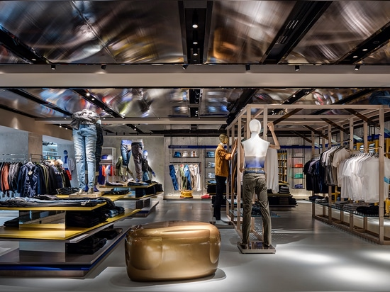 Group buying director Anita Barr says of the 360 men's concept, 'we wanted to turn the store into a boutique, focused around the environment and product'   Read more at http://www.wallpaper.com/fas...