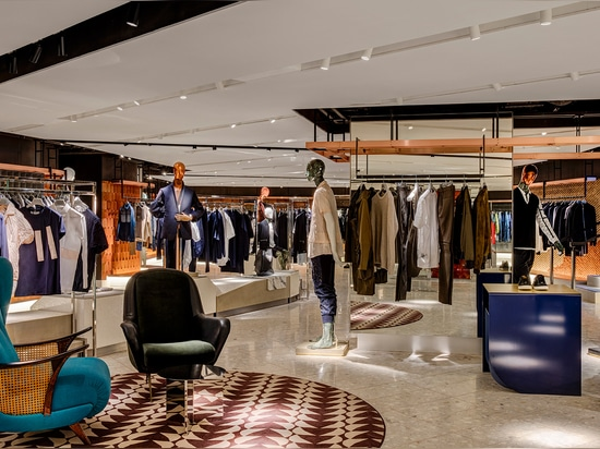 Barr adds, 'Almost every wall features a different material, representing each new brand'   Read more at http://www.wallpaper.com/fashion/harvey-nichols-opens-its-new-look-menswear-destination#wq9Y...