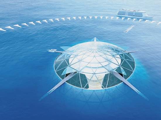 Ocean spiral envisioned as the world's first underwater city