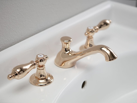 Classic style tap in PINK GOLD: the best of luxury and trend by Bleu Provence