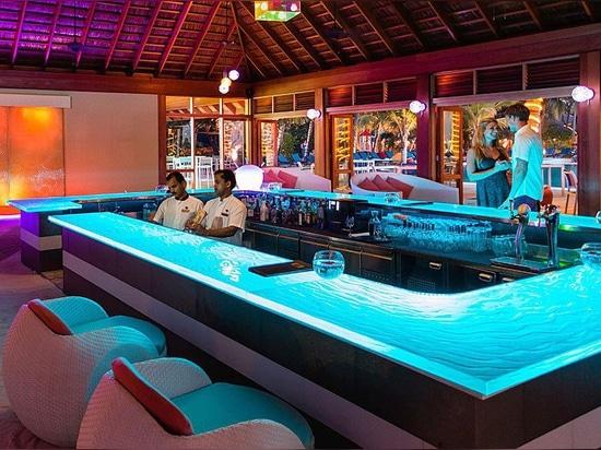 Glass Bar top By ThinkGlass at Meeru island resort & spa