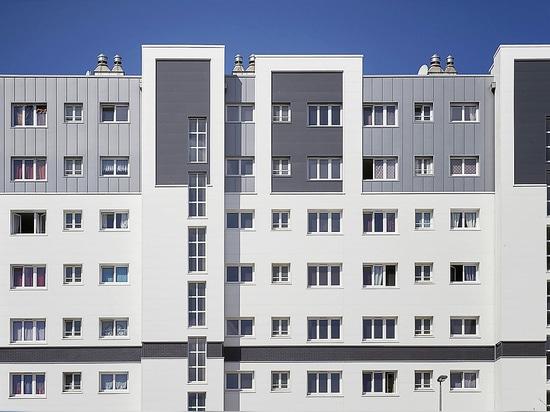 "Residential area ""Gauguin Matisse""- Energetic renovation: Aluminium panel solution for external facade insulation"