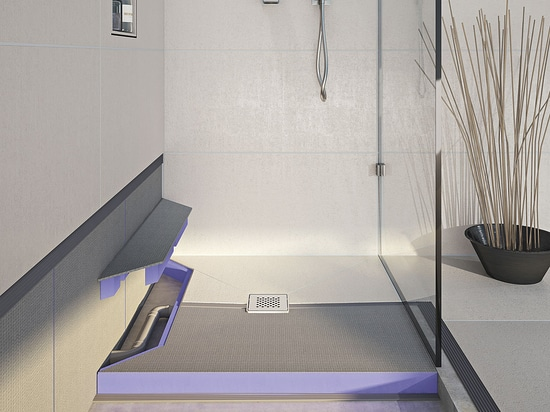 New JACKOBOARD Aqua Reno - A tileable floor level shower base with built-in drainage system