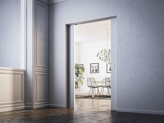 Syntesis Line pocket doors: clean, contemporary, minimalist