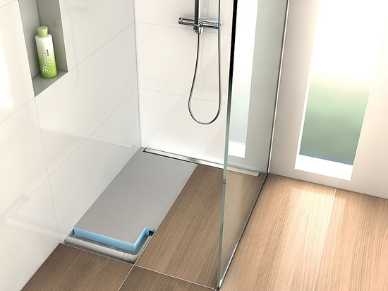 wedi Fundo Plano Linea is the flattest complete system of wedi with linear drainage