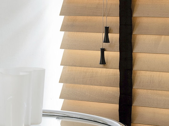 Solid wooden blinds with tapes