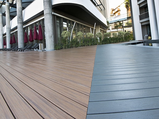 NEW: Wood-plastic composite deck board by Trex Inc.