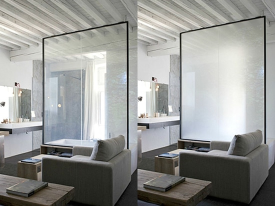 PRIVA-LITE the glass that turns transparent at the flick of a switch will be at the BAU exhibition in Munich