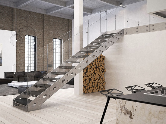 Customized open staircases – Rialto