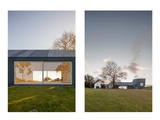 This high-tech material is weatherproof, waterproof and shows off the dramatic curve of the extension.