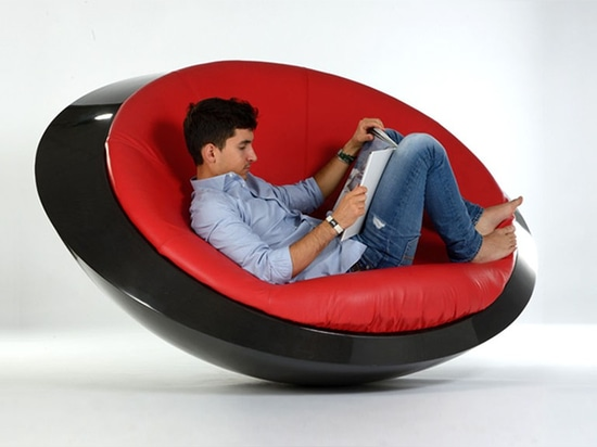 This New Rocking Chair Has A Flying Saucer Inspired Design