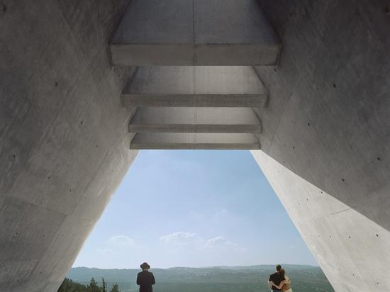 Moshe Safdie's Yad Vashem Holocaust History Museum is situated on a hillside overlooking Jerusalem's Ein Kerem Valley