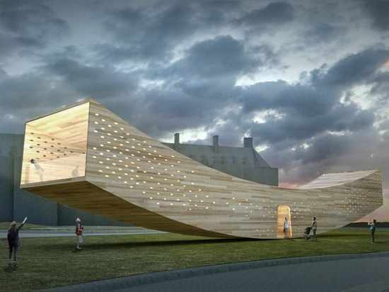 Alison Brooks' Smile installation will aim to showcase the structural potential of cross-laminated hardwood
