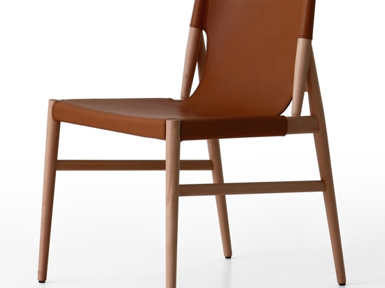 GamFratesi borrowed on typical mid-century shapes to create the Voyage chair for Porro