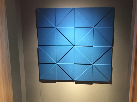 Prism sound absorption panel by Soundtect