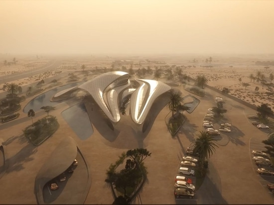 Zaha Hadid reveals animation of desert HQ for waste management company