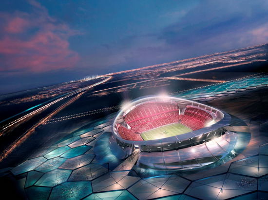 The previous 2010 design for the Lusail Stadium