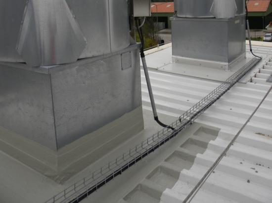 Liquid waterproofing applied to steel and zinc