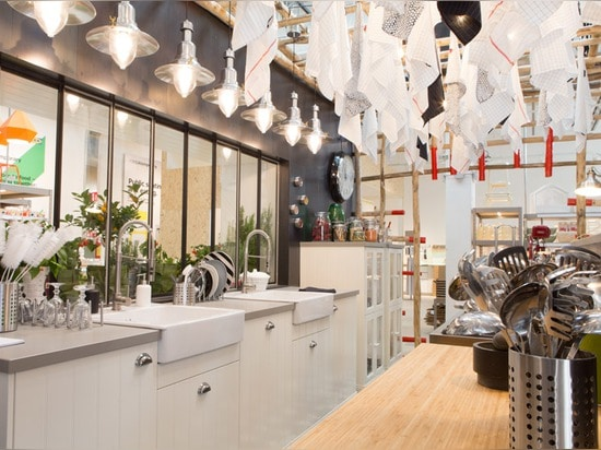 Ikea Temporary presents kitchen concepts at Milan pop-up