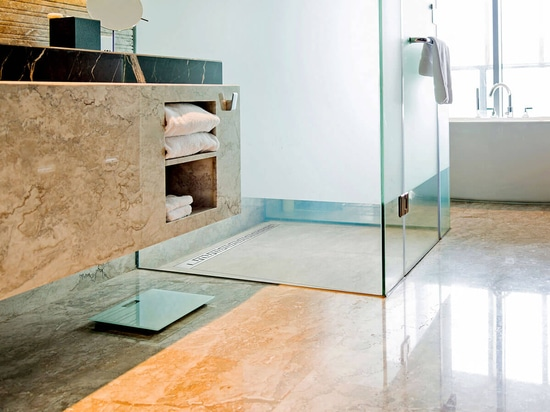 Tileable shower base Mineral PROFI with linear shower drain