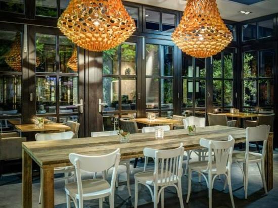 Crown chandeliers at restaurant Grand café Speck