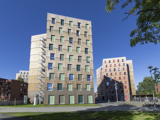 Europe's largest cross laminated timber structure complete with Kebony cladding