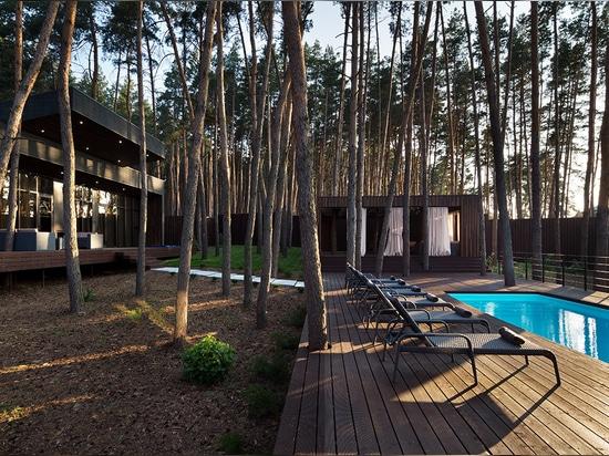 YOD design studio adds to ukraine hotel resort with chalet 4.0