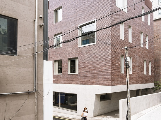 stocker lee architetti constructs angular mixed-use building in seoul