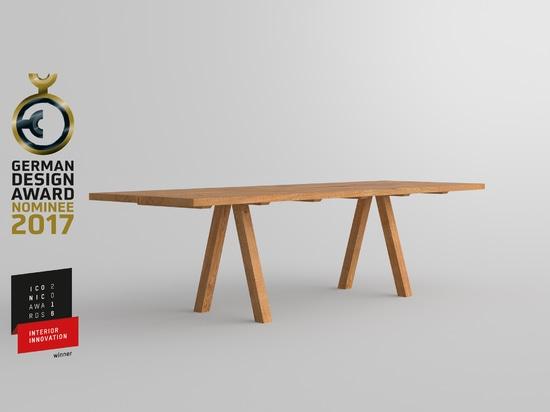 TABLE PAPILIO GERMAN DESIGN AWARD NOMINEE 2017