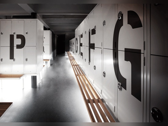 Locker rooms occupy the former engine room.