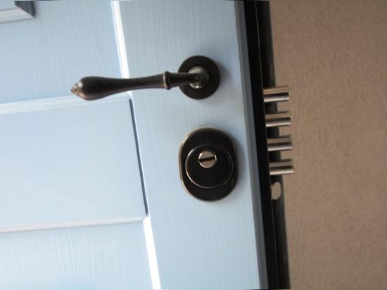 Armored door detail