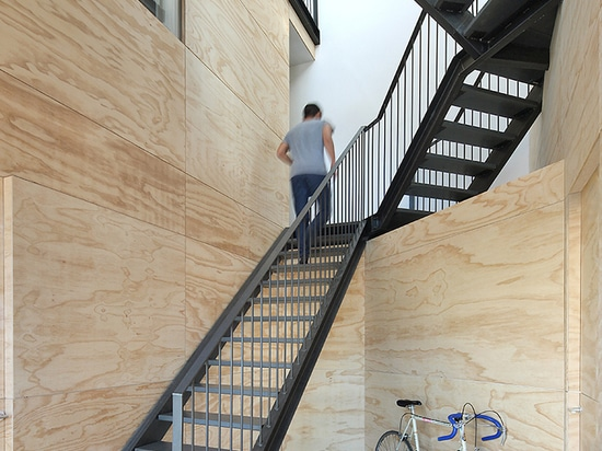 marc koehler architects installs prefab wooden lofthouse in amsterdam