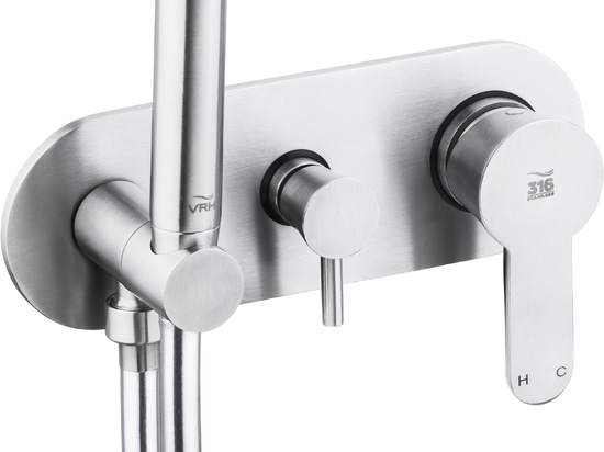 The new Riviera concealed mixer stainless steel 316