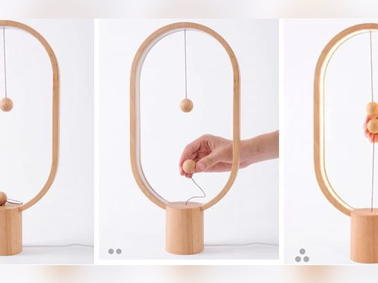 This new lamp has an unconventional way of turning it on and off