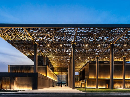 the scheme's unifying roof canopy pays homage to its geographic location