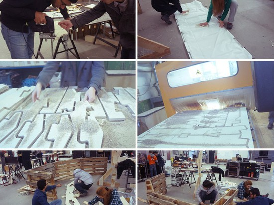 building process, 1:1 scale model