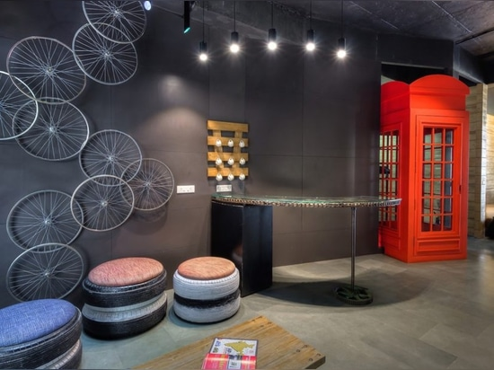 Architects creatively upcycle waste into a surprisingly chic office space
