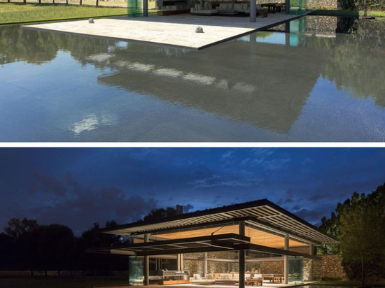This Visitors Pavilion Is Surrounded By Glass And Water