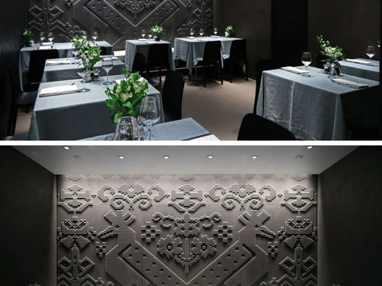Chiseled Stone Tapestries Cover The Walls Of This Restaurant In London