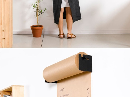 Wall Decor Idea – Install A Paper Roll Holder To Create A Fun Place To Write Lists Or Sketch Ideas