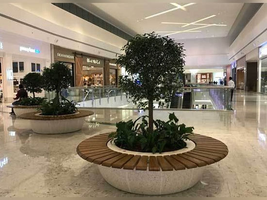 Bellitalia precious stones planters for the Mall of Qatar