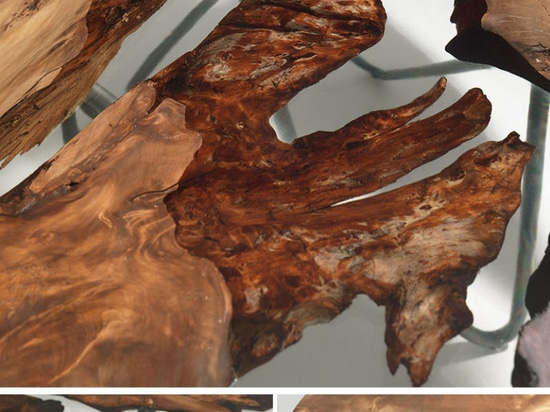 Ancient New Zealand Wood Was Combined With Resin To Create This Unique Table Top
