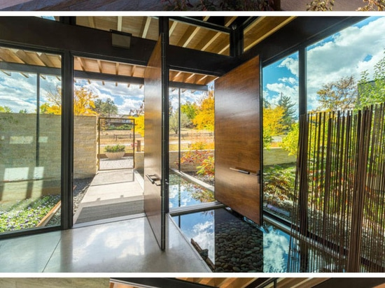 There are multiple living spaces inside this sprawling suburban house in Colorado
