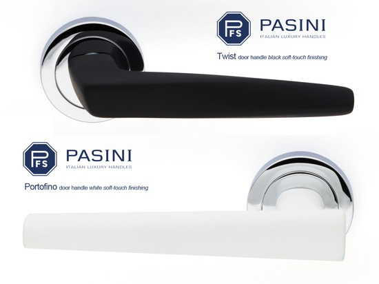 Twist and Portofino in black & white soft touch finishing