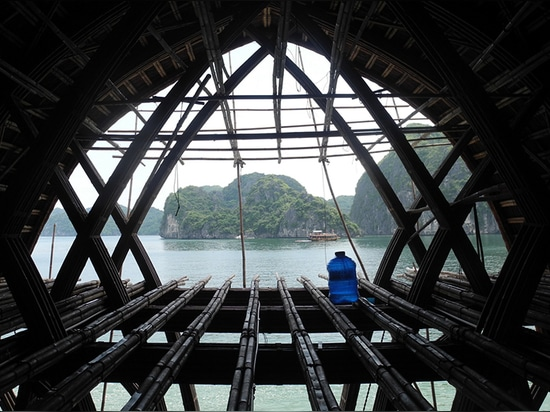 VTN architects' bamboo castaway island resort under construction in vietnam